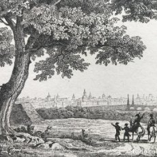 Arte: VISTA PANORÁMICA DE LA CIUDAD DE VALLADOLID (CASTILLA, ESPAÑA), CA. 1850. ANÓNIMO. Lote 262388760