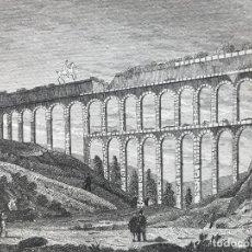 Arte: VISTA DEL ACUEDUCTO ROMANO DE TARRAGONA (CATALUÑA, ESPAÑA), CA. 1815. ANÓNIMO. Lote 262391600