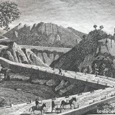 Arte: CAMINO DE BALAGUER EN LÉRIDA (CATALUÑA, ESPAÑA), HACIA 1815. ANÓNIMO. Lote 262393870