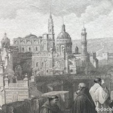 Arte: VISTA DE JEREZ DE LA FONTERA EN CÁDIZ (ESPAÑA), 1835. ADOLPH DWORZACK. Lote 262396410