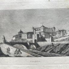Arte: VISTA PANORÁMICA DE LA CIUDAD DE TOLEDO (CASTILLA, ESPAÑA), 1834. ANÓNIMO. Lote 262401715