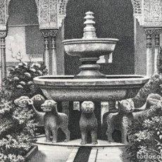 Arte: VISTA DE LA FUENTE DE LOS LEONES EN LA ALHAMBRA DE GRANADA (ESPAÑA), HACIA 1850. A. BORNDRUCK. Lote 262435795