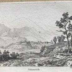 Arte: VISTA DE SALOMÓ, TARRAGONA (CATALUÑA, ESPAÑA), 1838. BUTTURA/BOULLEMUR. Lote 262438660