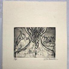Arte: AGUAFUERTE DE LA ARTISTA CATALANA MARIA ASUNCION RAVENTOS. TIRADA LIMITADA. FIRMADA. AÑOS 70. Lote 262505445