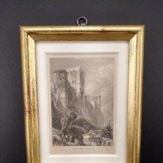 Arte: TORRE DE COMARES, ALHAMBRA DE GRANADA, DE DAVID ROBERTS GRABADO 1835, CUADRO. Lote 262528965