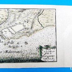 Arte: GRABADO COLOREADO A MANO PLAN DE LA VILLE ET MOLLE DE TARAGONE. TARRAGONA. S/F. S. P. DE BEAULIEU.. Lote 262726935