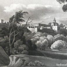 Arte: VISTA PANORÁMICA DE LA ALHAMBRA DE GRANADA (ESPAÑA), HACIA 1850. ANÓNIMO. Lote 262867160