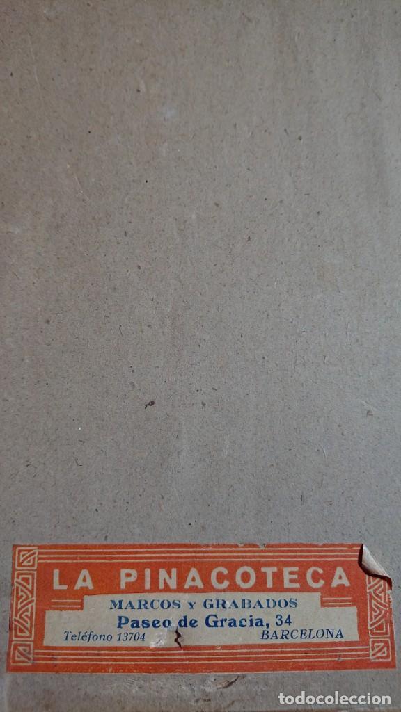 Arte: GRABADO SIGLO XIX ENMARCADO - JUANA DE ARCO CON ARMADURA, ARRODILLADA SOSTENIENDO PENDON - Foto 7 - 263004800