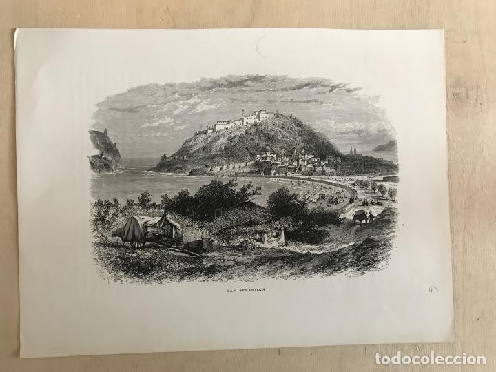 Arte: Vista de la ciudad de San Sebastián/Donostia (España), ca. 1890. Cassel Petter/Galpin - Foto 2 - 263009110