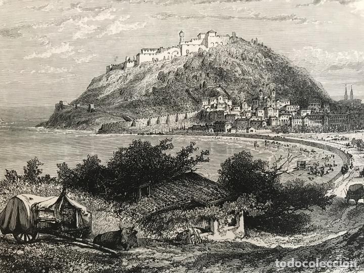 Arte: Vista de la ciudad de San Sebastián/Donostia (España), ca. 1890. Cassel Petter/Galpin - Foto 3 - 263009110