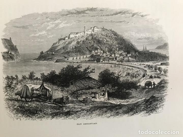 VISTA DE LA CIUDAD DE SAN SEBASTIÁN/DONOSTIA (ESPAÑA), CA. 1890. CASSEL PETTER/GALPIN (Arte - Grabados - Modernos siglo XIX)