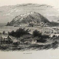 Arte: VISTA DE LA CIUDAD DE SAN SEBASTIÁN/DONOSTIA (ESPAÑA), CA. 1890. CASSEL PETTER/GALPIN. Lote 263009110