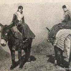 Arte: MUJERES DE LA ISLA DE MENORCA (BALEARES, ESPAÑA), 1890. R. BRENDAMOUR. Lote 263018490