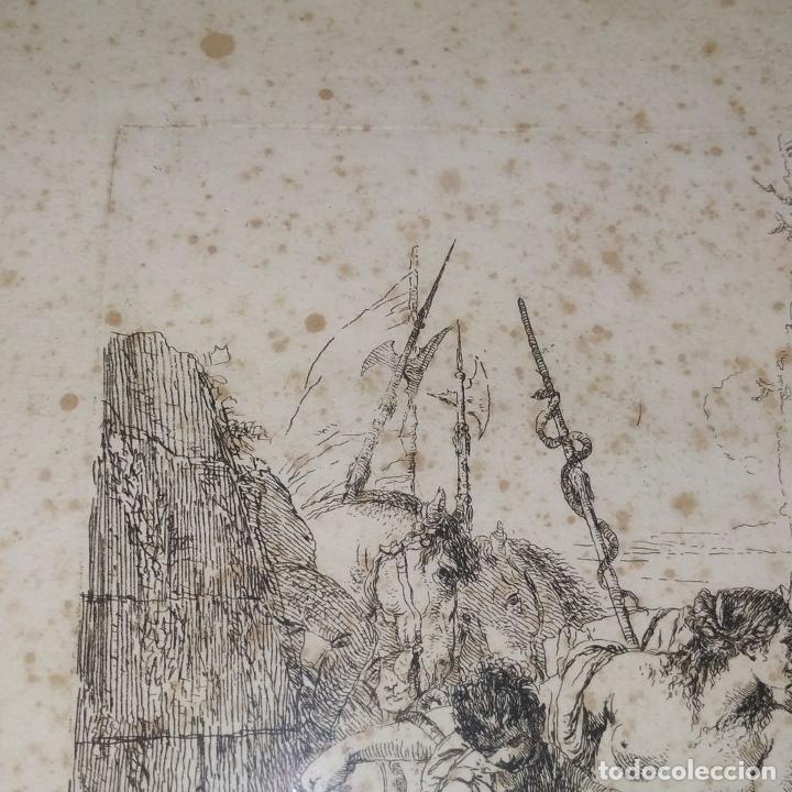 Arte: NIMFA Y HOMBRE. GIANBATTISTA TIÉPOLO. AGUAFUERTE. ITALIA. SIGLO XVIII - Foto 3 - 263242875