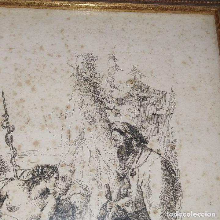 Arte: NIMFA Y HOMBRE. GIANBATTISTA TIÉPOLO. AGUAFUERTE. ITALIA. SIGLO XVIII - Foto 5 - 263242875