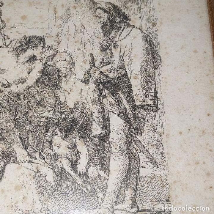 Arte: NIMFA Y HOMBRE. GIANBATTISTA TIÉPOLO. AGUAFUERTE. ITALIA. SIGLO XVIII - Foto 7 - 263242875