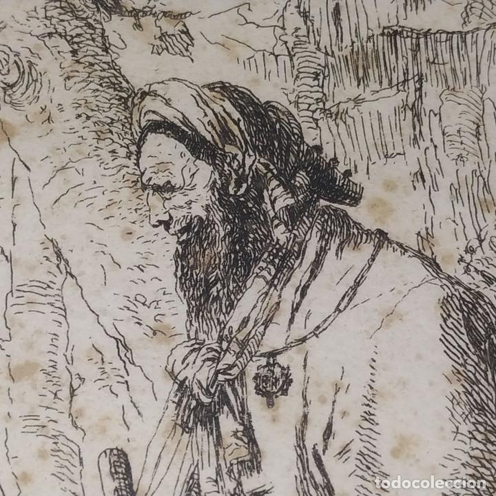 Arte: NIMFA Y HOMBRE. GIANBATTISTA TIÉPOLO. AGUAFUERTE. ITALIA. SIGLO XVIII - Foto 10 - 263242875