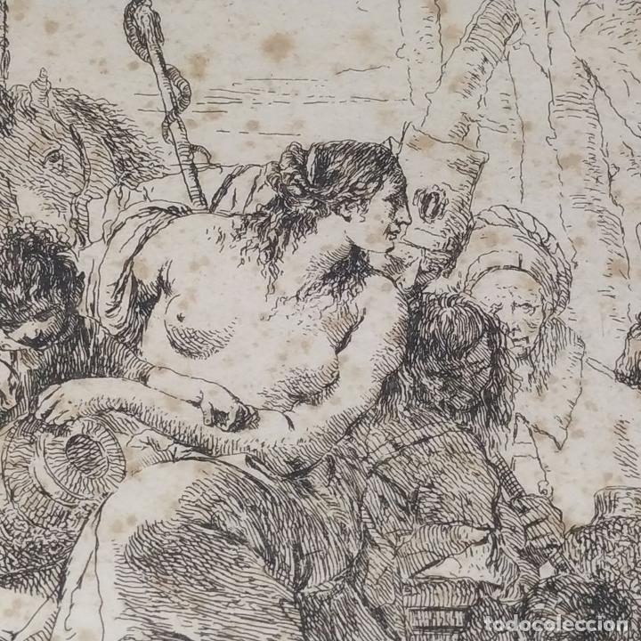 Arte: NIMFA Y HOMBRE. GIANBATTISTA TIÉPOLO. AGUAFUERTE. ITALIA. SIGLO XVIII - Foto 11 - 263242875