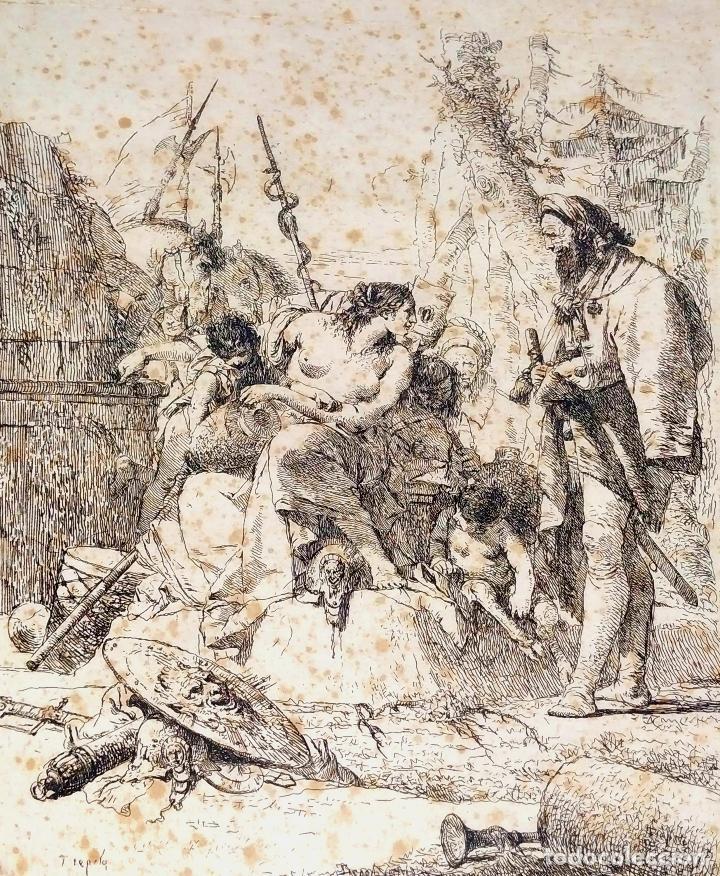 NIMFA Y HOMBRE. GIANBATTISTA TIÉPOLO. AGUAFUERTE. ITALIA. SIGLO XVIII (Arte - Grabados - Antiguos hasta el siglo XVIII)
