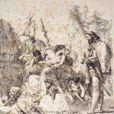 Arte: NIMFA Y HOMBRE. GIANBATTISTA TIÉPOLO. AGUAFUERTE. ITALIA. SIGLO XVIII. Lote 263242875