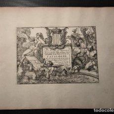 Arte: INTERESANTE LOTE DE 5 GRABADOS , TITULO PLANS ET PRO.. CATALOGNE , PERPIGNAN, ROSAS DE ROUX.... Lote 263550305