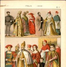 Arte: CROMOLITOGRAFIA ORIGINAL DE EPOCA - 1896 - FRIEDRICH HOTTENROTH - A. GUÉRINET - ITALIA 1500. Lote 263600965