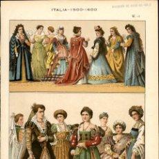 Arte: CROMOLITOGRAFIA ORIGINAL DE EPOCA - 1896 - FRIEDRICH HOTTENROTH - A. GUÉRINET - ITALIA 1500 1600. Lote 263601005