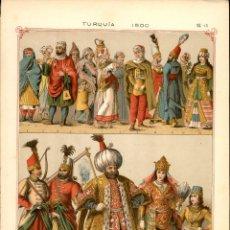 Arte: CROMOLITOGRAFIA ORIGINAL DE EPOCA - 1896 - FRIEDRICH HOTTENROTH - A. GUÉRINET - TURQUIA 1500. Lote 263601045