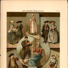 Arte: CROMOLITOGRAFIA ORIGINAL DE EPOCA - 1896 - FRIEDRICH HOTTENROTH - A. GUÉRINET - HOLANDA XIX. Lote 263601070
