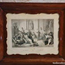 Arte: GRABADO EN MARCO DE ÉPOCA ALTA CALIDAD. L. A. TURGIS PARÍS 1861. LA POESÍA LA POESIE. Lote 263696995