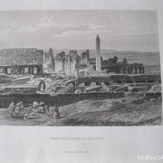 Arte: VISTA DE LAS RUINAS DEL TEMPLO Y OBELISCO DE KARNAK (EGIPTO), CA. 1850. INST. HILDBURGHAUSEN. Lote 263732320