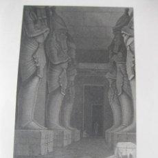 Arte: VISTA DEL TEMPLO DE GERF HUSSEIN, (EGIPTO, ÁFRICA), CA. 1850.SCHIRMER/GRAY. Lote 263760960