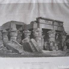 Arte: VISTA DE LAS RUINAS DEL TEMPLO KOM-OMBO (EGIPTO, ÁFRICA), 1850. INSTITUTO HILDBUGHAUSEN. Lote 263762605