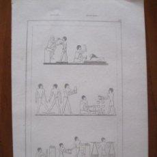 Arte: ARTES Y OFICIOS DEL ANTIGUO EGIPTO (ÁFRICA), HACIA 1850. ANÓNIMO. Lote 263763805