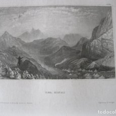 Arte: VISTA DEL MONTE SINAI (EGIPTO), HACIA 1850. INST. HILDBURGHAUSEN. Lote 263764380