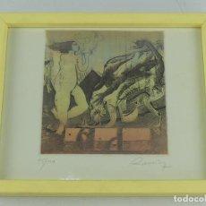 Arte: GRABADO FIRMADO Y NUMERADO NUMERO 45 DE 100 ENMARCADO CON BONITO MARCO. Lote 264157736