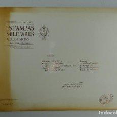 Arte: SEGUNDA CARPETA DE LAMINAS ESTAMPAS MILITARES AGUAFUERTES EDICIONES DEL EJERCITO CARPETA Nª 59. Lote 264162800