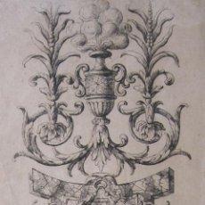 Arte: FRANÇOIS DE POILLY II (1666-1741). ORNAMENTACIÓN ATLANTES. AGUAFUERTE, HACIA 1660-90. FIRMADO. Lote 264226392