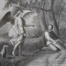 Arte: GRABADO DE EL ARCÁNGEL SAN RAFAEL. S.XIX. ROGAMOS LEER BIEN LAS CONDICIONES ANTES DE PUJAR.. Lote 264325196