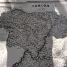 Arte: ANTIGUO MAPA DE ZAMORA ,SIGLO XIX,REALIZADO POR FRANCISCO COELLO. Lote 264338372