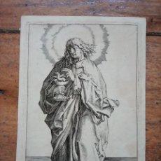 Arte: MARAVILLOSO Y RARÍSIMO GRABADO APÓSTOL JUAN, ORIGINAL 1610. SEGUIDOR VAN LEYDEN. Lote 264492234