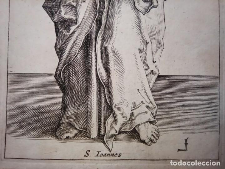 Arte: MARAVILLOSO Y RARÍSIMO GRABADO APÓSTOL JUAN, ORIGINAL 1610. SEGUIDOR VAN LEYDEN - Foto 5 - 264492234
