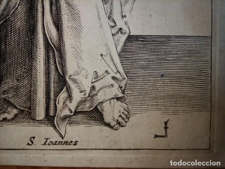Arte: MARAVILLOSO Y RARÍSIMO GRABADO APÓSTOL JUAN, ORIGINAL 1610. SEGUIDOR VAN LEYDEN - Foto 9 - 264492234