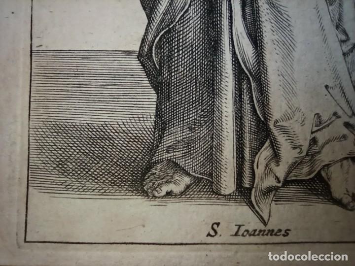 Arte: MARAVILLOSO Y RARÍSIMO GRABADO APÓSTOL JUAN, ORIGINAL 1610. SEGUIDOR VAN LEYDEN - Foto 10 - 264492234