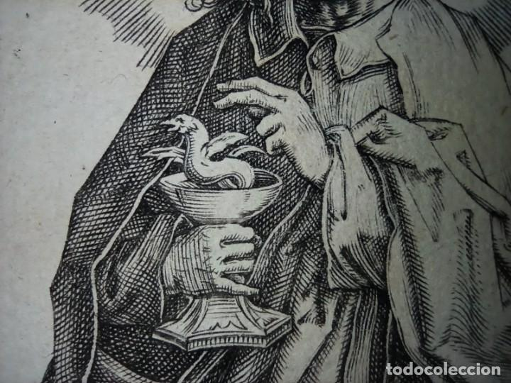 Arte: MARAVILLOSO Y RARÍSIMO GRABADO APÓSTOL JUAN, ORIGINAL 1610. SEGUIDOR VAN LEYDEN - Foto 11 - 264492234