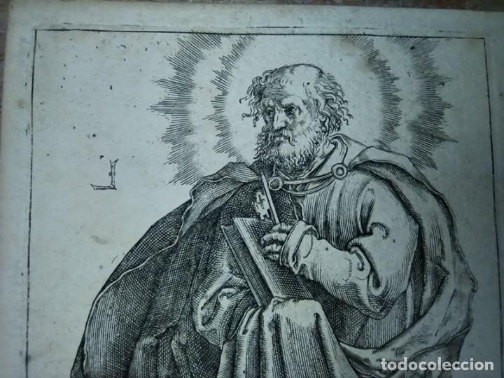 Arte: MARAVILLOSO Y RARÍSIMO GRABADO APÓSTOL PEDRO, ORIGINAL 1610.JAN MULLER. SEGUIDOR VAN LEYDEN - Foto 3 - 264492384