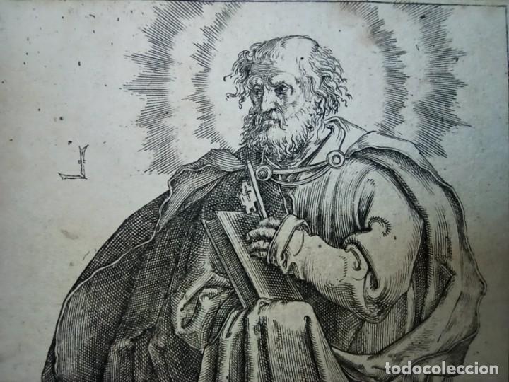 Arte: MARAVILLOSO Y RARÍSIMO GRABADO APÓSTOL PEDRO, ORIGINAL 1610.JAN MULLER. SEGUIDOR VAN LEYDEN - Foto 4 - 264492384
