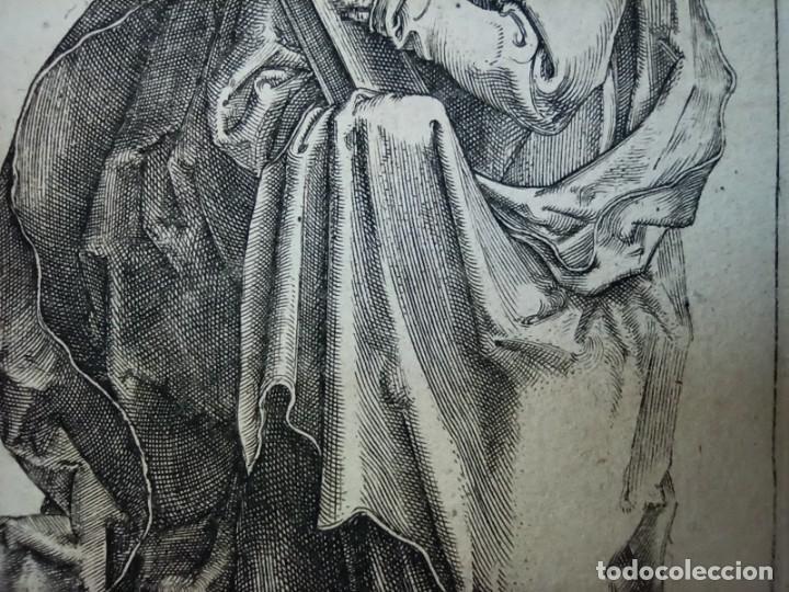 Arte: MARAVILLOSO Y RARÍSIMO GRABADO APÓSTOL PEDRO, ORIGINAL 1610.JAN MULLER. SEGUIDOR VAN LEYDEN - Foto 5 - 264492384