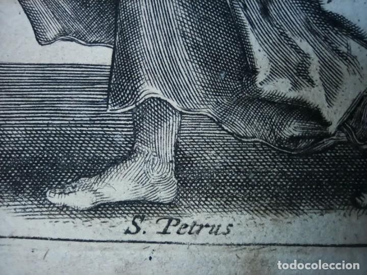 Arte: MARAVILLOSO Y RARÍSIMO GRABADO APÓSTOL PEDRO, ORIGINAL 1610.JAN MULLER. SEGUIDOR VAN LEYDEN - Foto 7 - 264492384