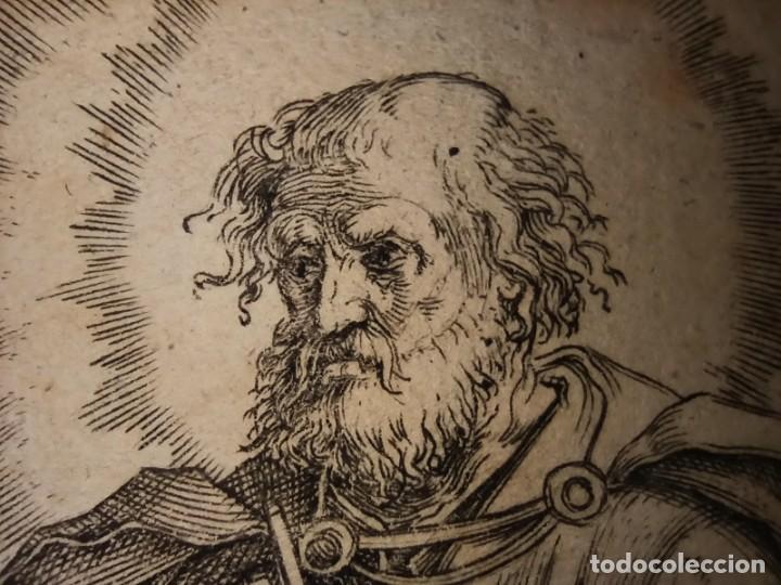 Arte: MARAVILLOSO Y RARÍSIMO GRABADO APÓSTOL PEDRO, ORIGINAL 1610.JAN MULLER. SEGUIDOR VAN LEYDEN - Foto 9 - 264492384